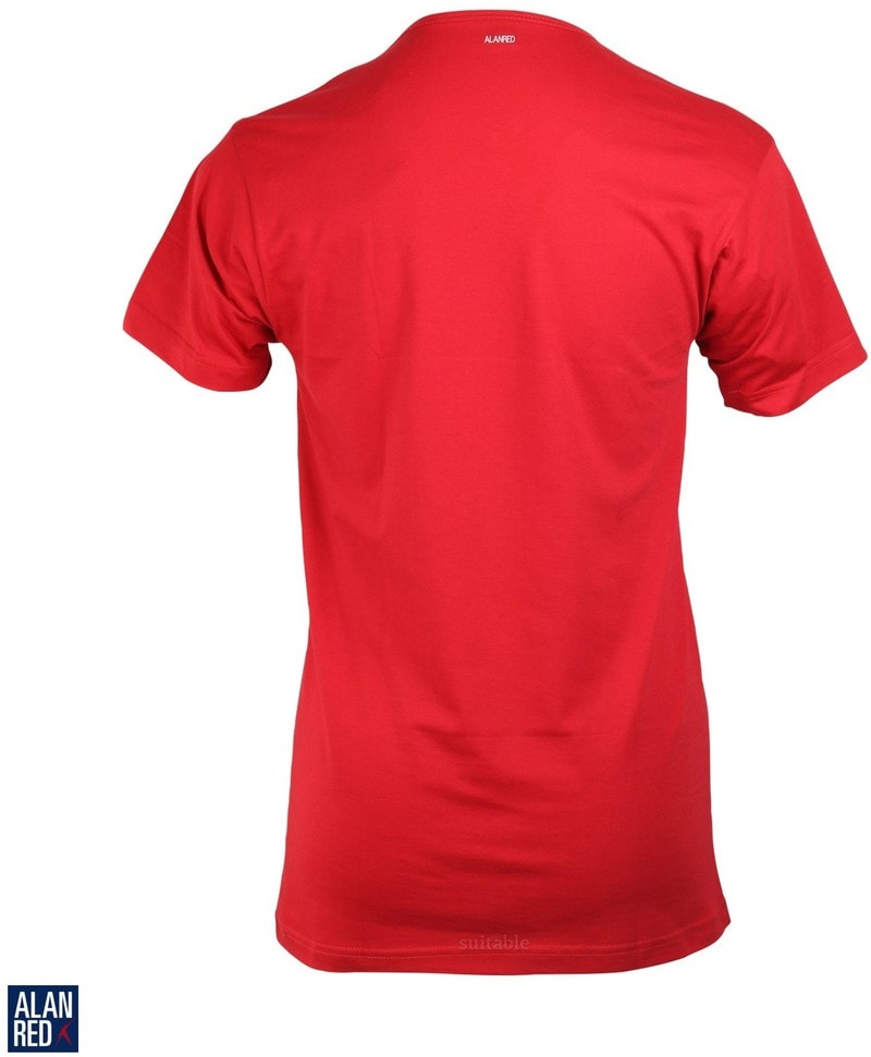 Alan Red Vermont T-Shirt V-Hals Stone Red (1Pack) foto 1