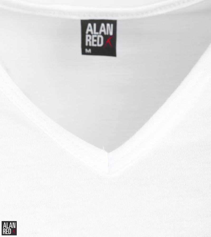 Alan Red Vermont T-Shirt V-Hals Wit (2Pack) foto 2
