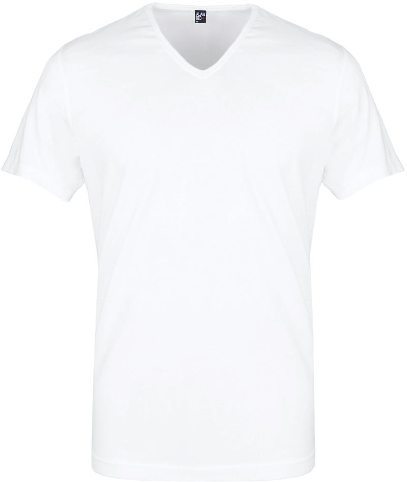 Alan Red Vermont T-Shirt V-Hals Wit (2Pack) foto 1