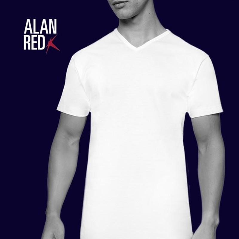 Alan Red Vermont T-Shirt V-Hals Wit (2Pack) foto 5