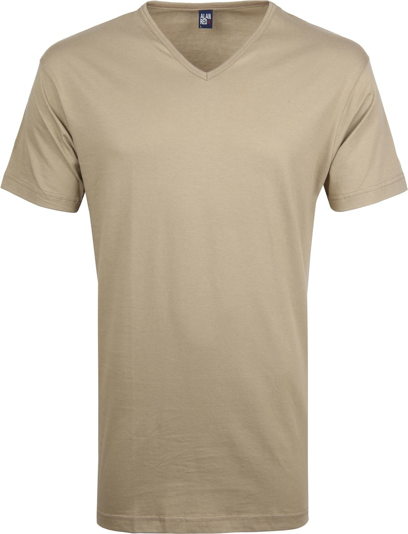 Alan Red Vermont T-Shirt V-Neck Khaki (2Pack) photo 1