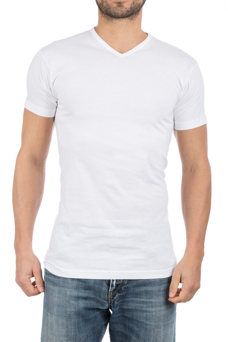 Alan Red Vermont T-Shirt V-Neck White (2Pack)