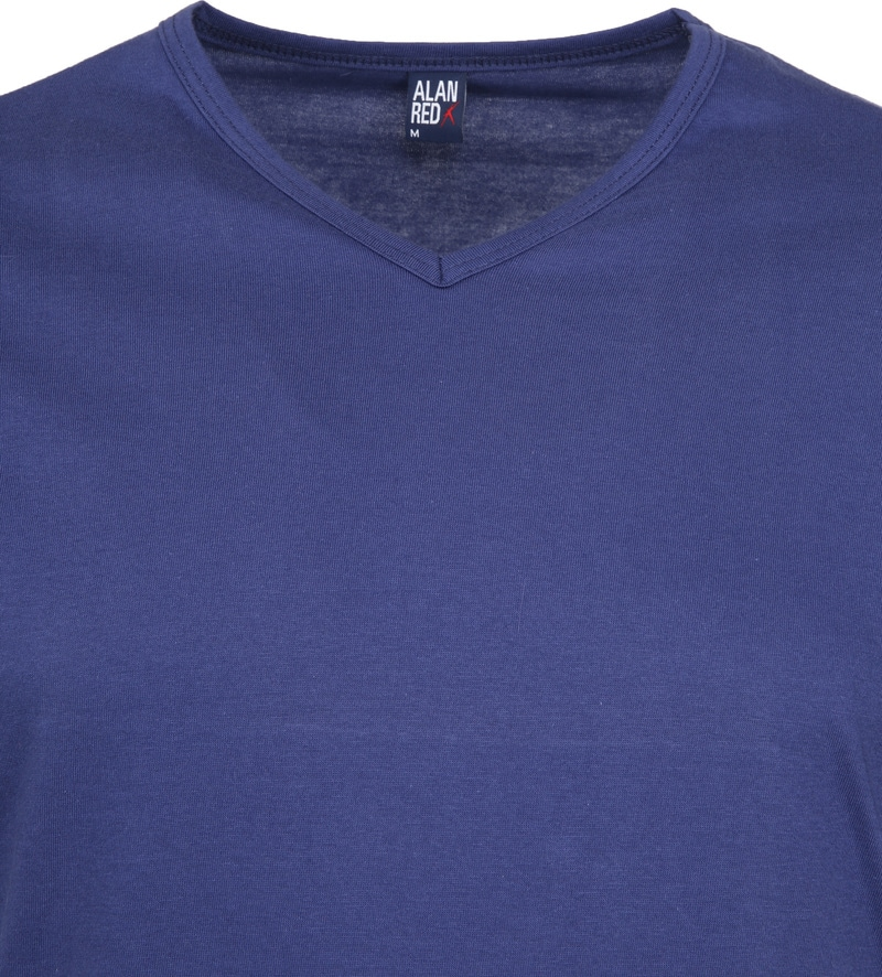 Alan Red Vermont T-shirts V-Neck Blue (2Pack) photo 2