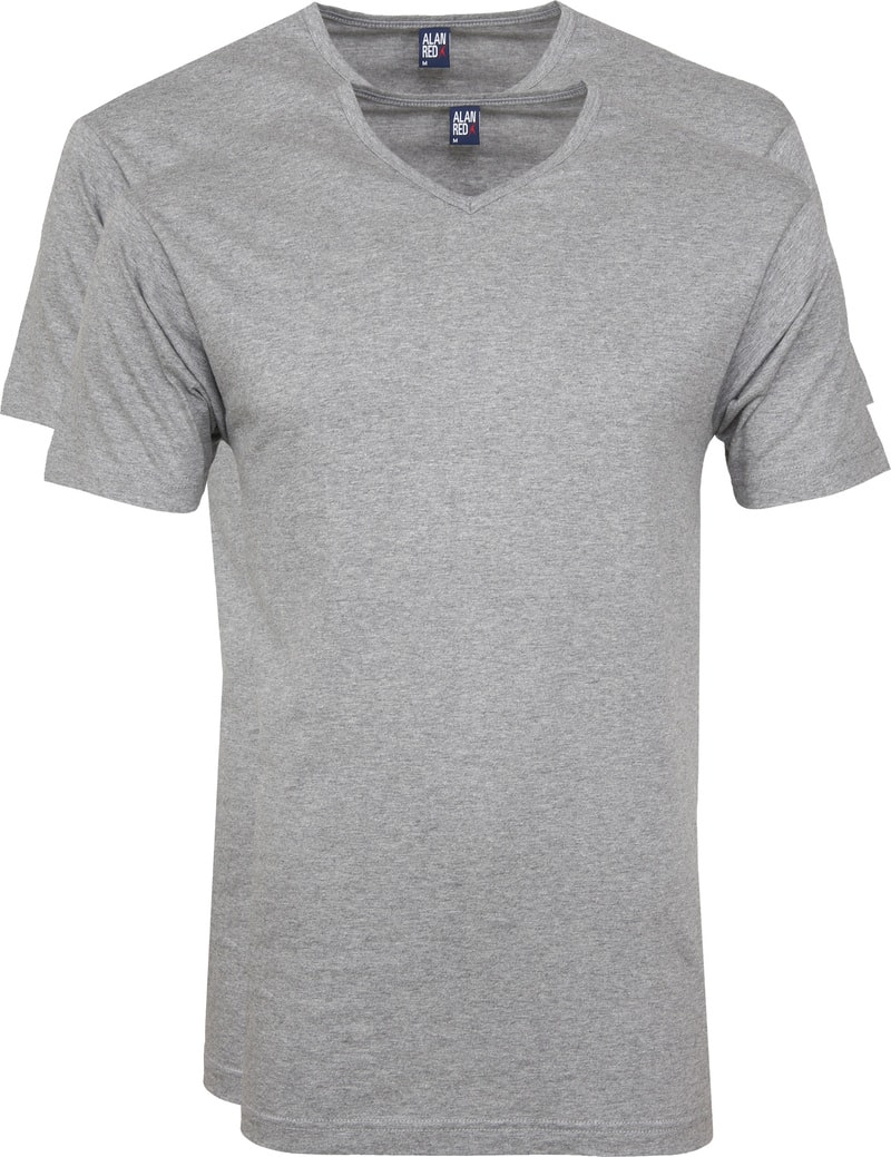 Alan Red Vermont T-shirts V-Neck Grey (2Pack) photo 0