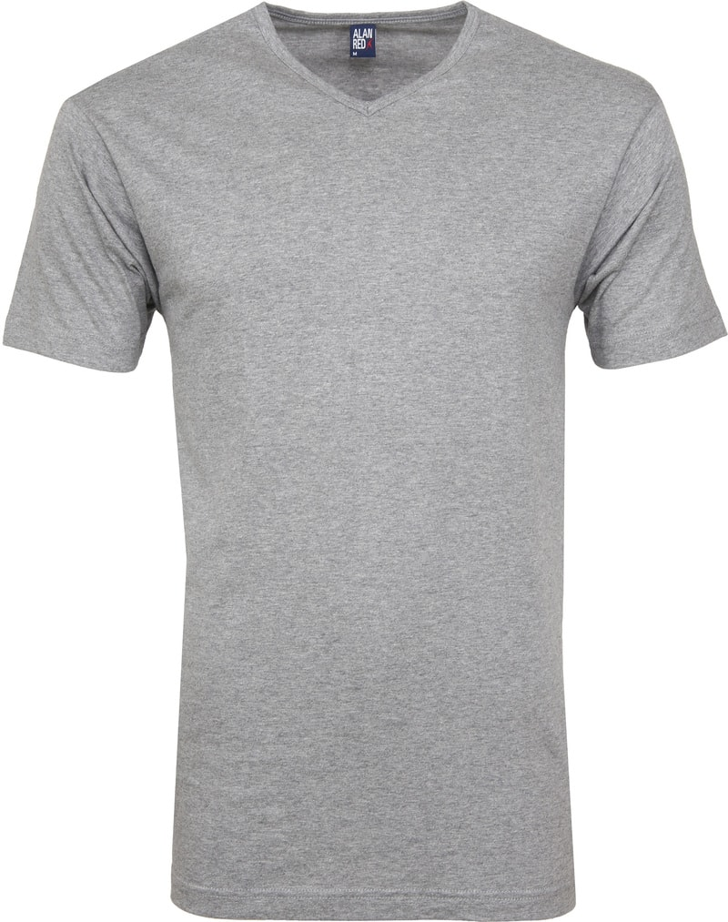 Alan Red Vermont T-shirts V-Neck Grey (2Pack) photo 1
