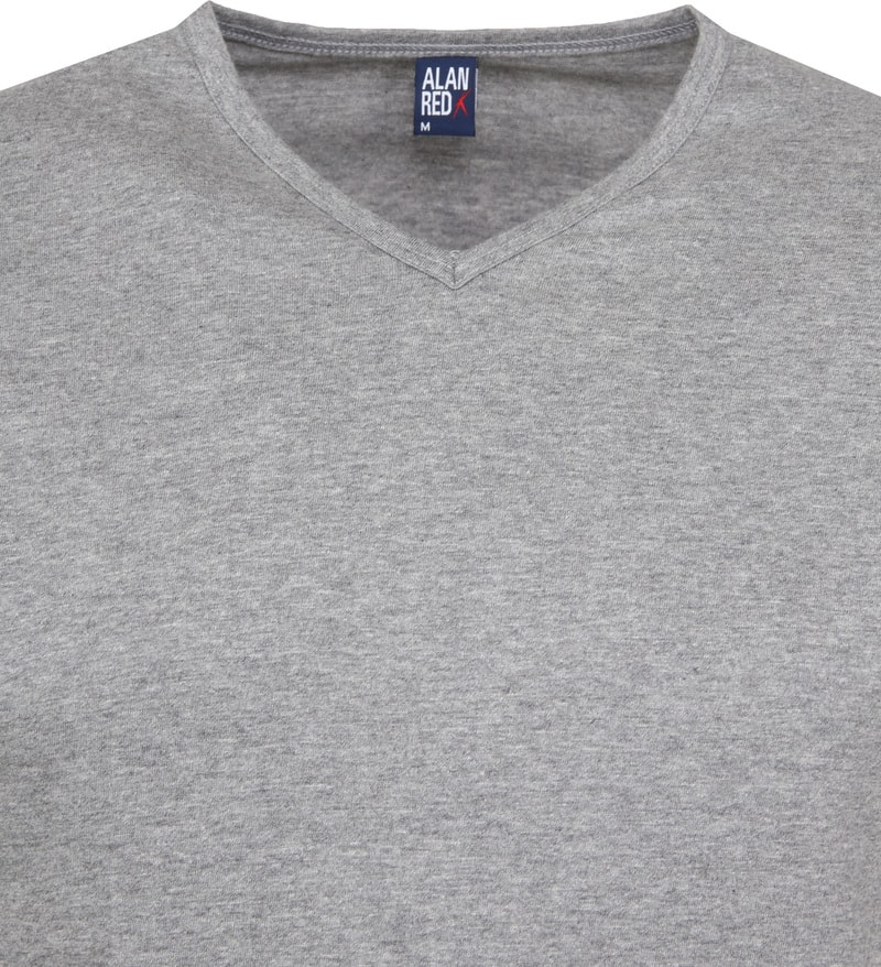 Alan Red Vermont T-shirts V-Neck Grey (2Pack) photo 2