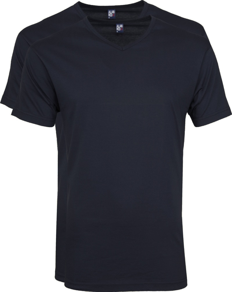 Alan Red Vermont T-shirts V-Neck Navy (2Pack) photo 0