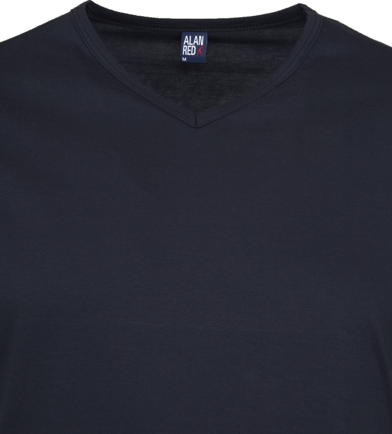Alan Red Vermont T-shirts V-Neck Navy (2Pack) photo 2