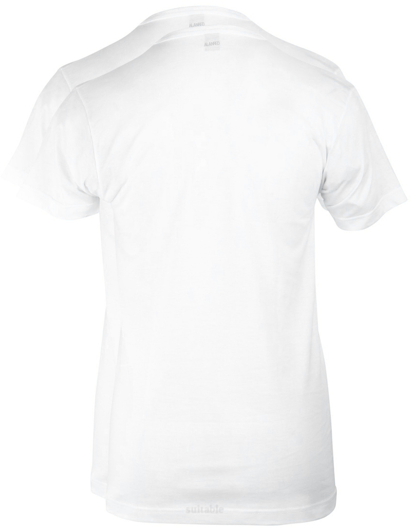 Alan Red West-Virginia V-Neck White 2-Pack photo 2