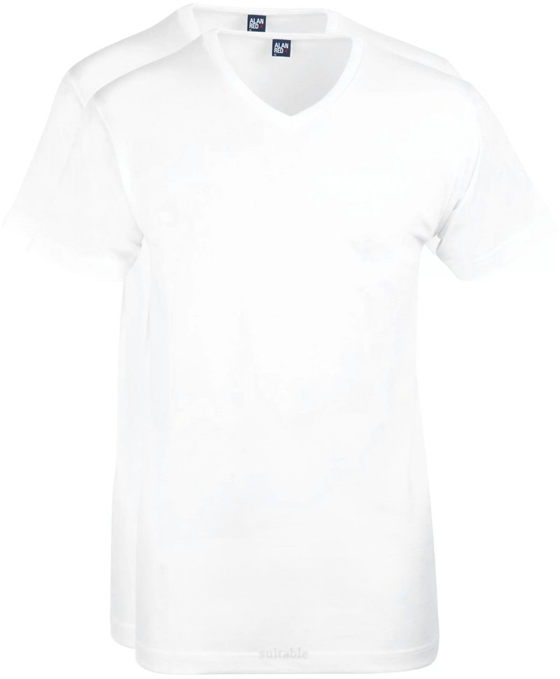 Alan Red West-Virginia V-Neck White 2-Pack photo 0