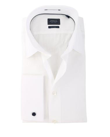 Arrow Dubbel Manchet Overhemd Wit  online bestellen | Suitable