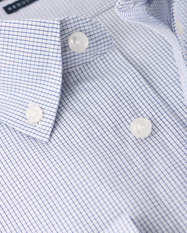 Detail Arrow Overhemd Button Down Ruit