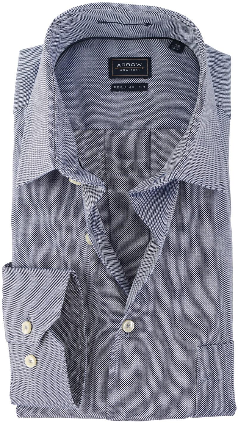 Detail Arrow Overhemd Donkerblauw