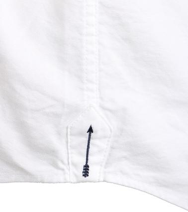 Detail Arrow Overhemd Wit