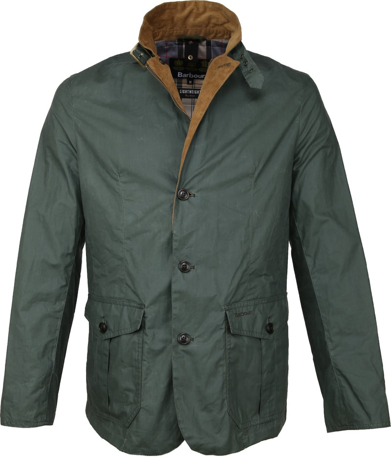 Barbour Ashby Wax Jas Groen foto 0