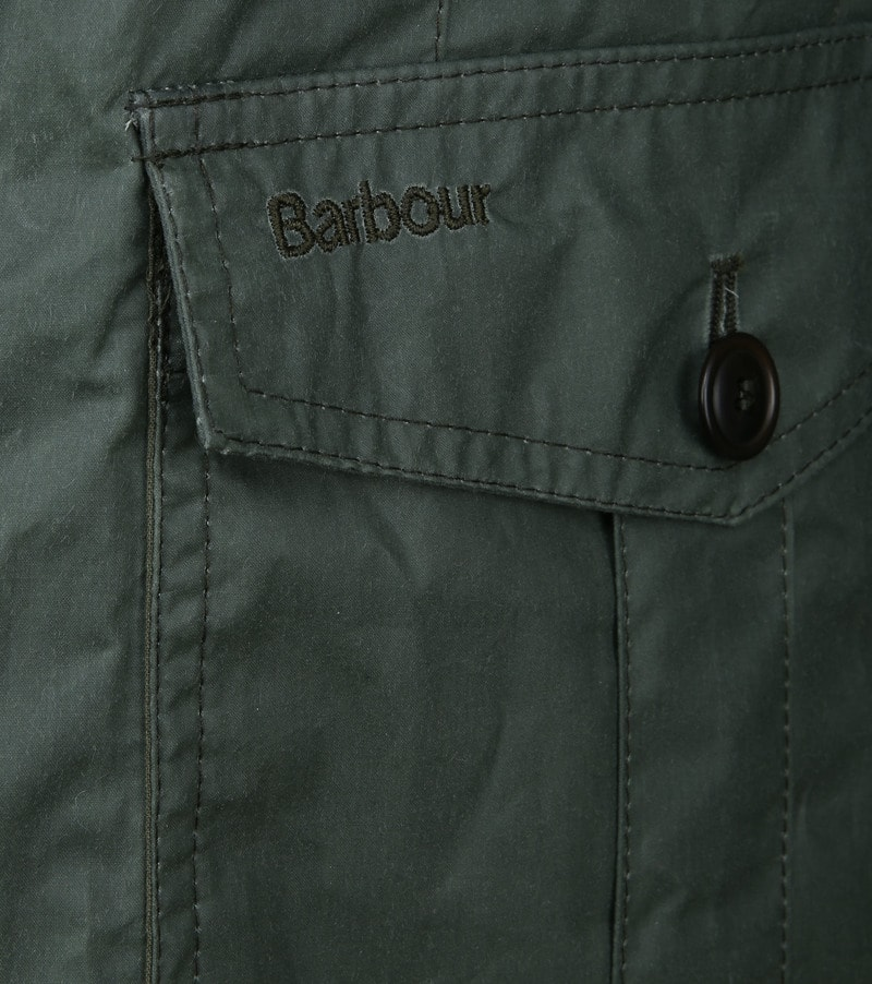 Barbour Ashby Wax Jas Groen foto 3