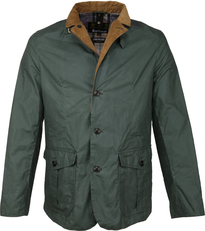 Barbour Ashby Wax Jas Groen foto 4