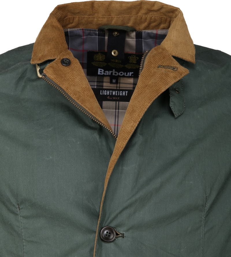 Barbour Ashby Wax Jas Groen foto 5