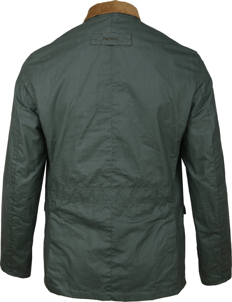 Barbour Ashby Wax Jas Groen foto 6
