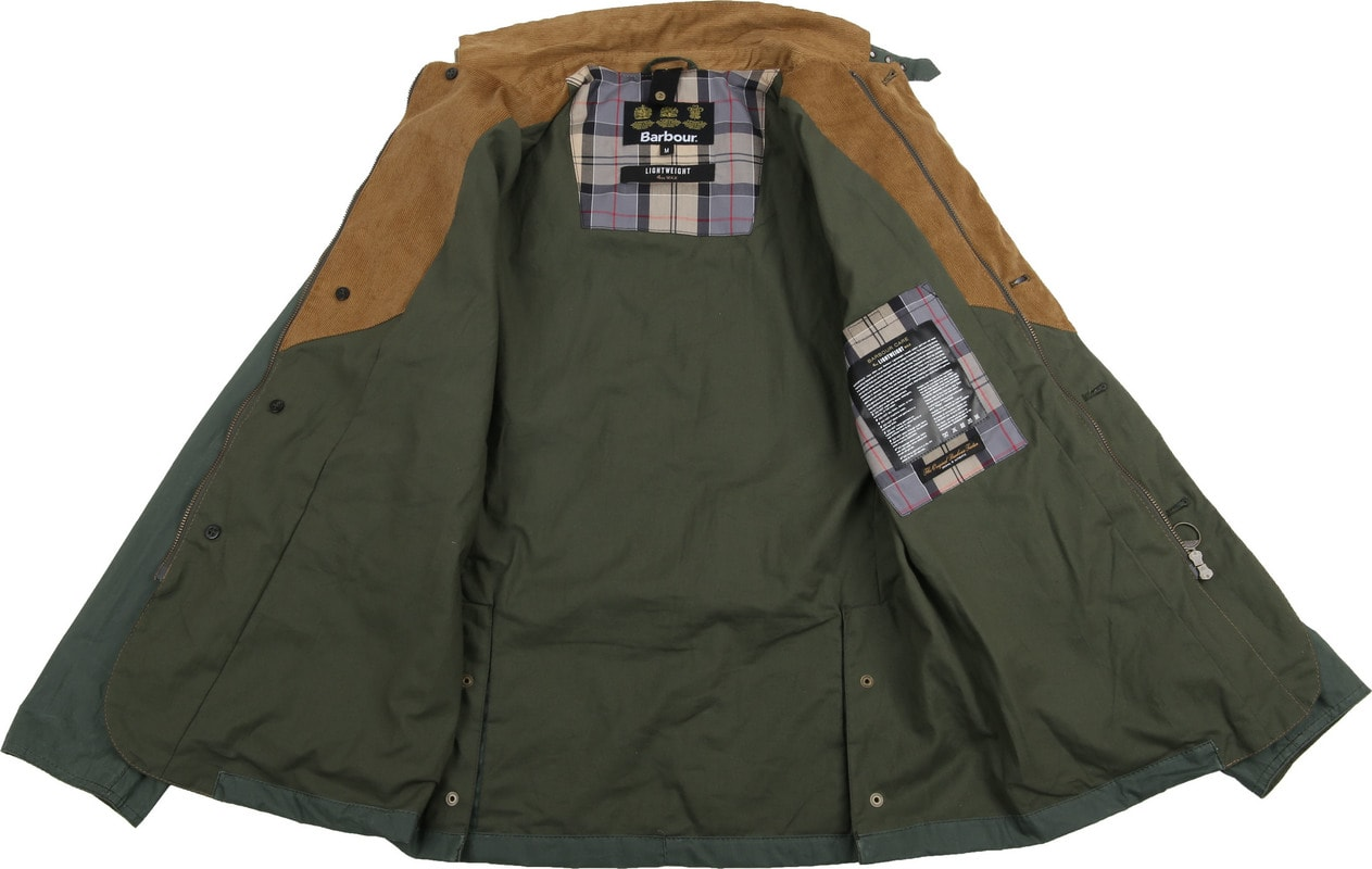 Barbour Ashby Wax Jas Groen foto 7