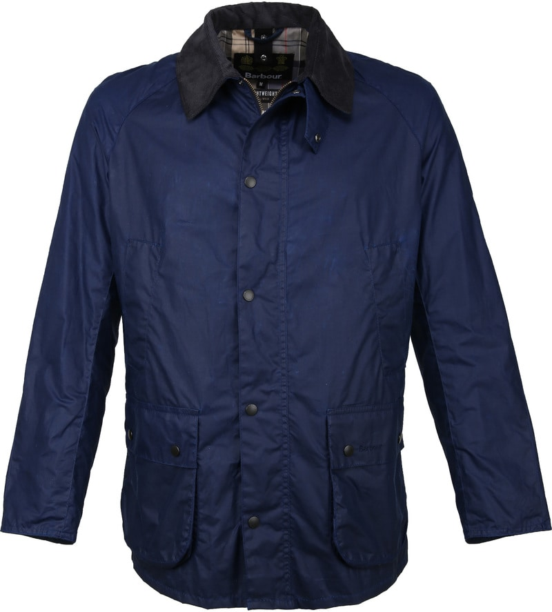 Barbour Ashby Wax Jas Navy foto 0