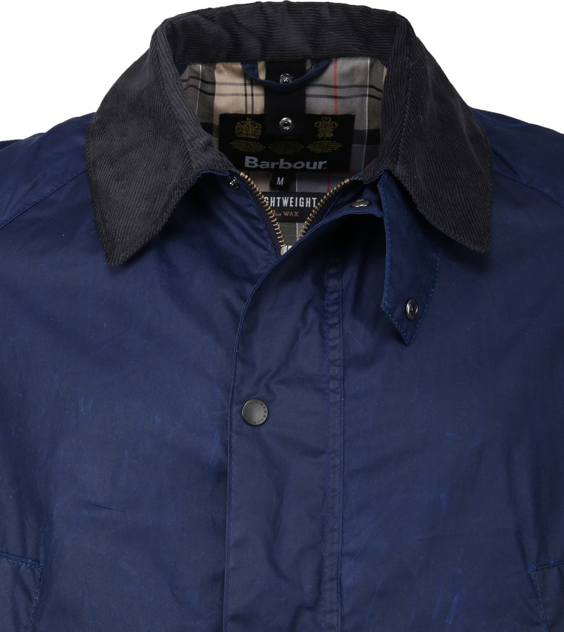 Barbour Ashby Wax Jas Navy foto 1