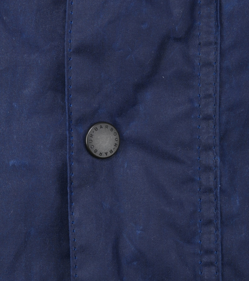 Barbour Ashby Wax Jas Navy foto 2