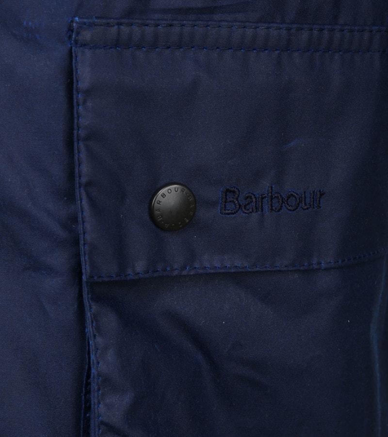 Barbour Ashby Wax Jas Navy foto 3