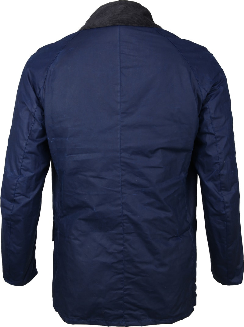 Barbour Ashby Wax Jas Navy foto 4