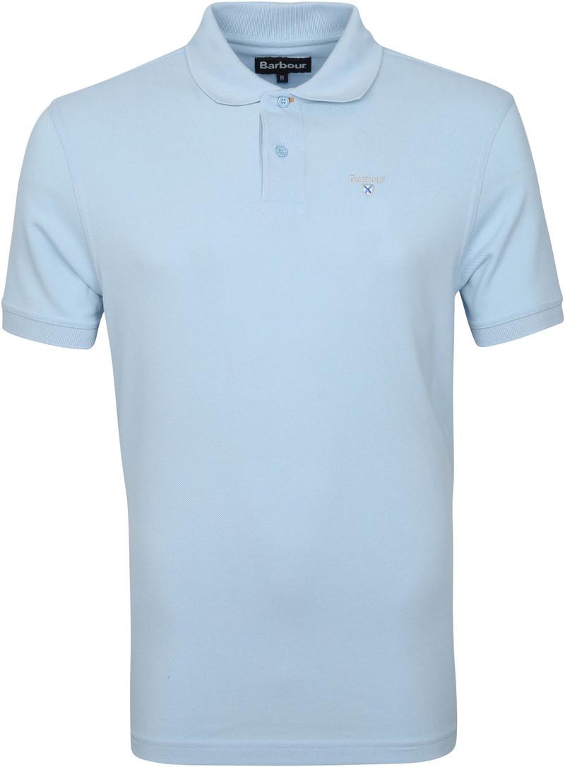 Barbour Basic Pique Poloshirt Hellblau