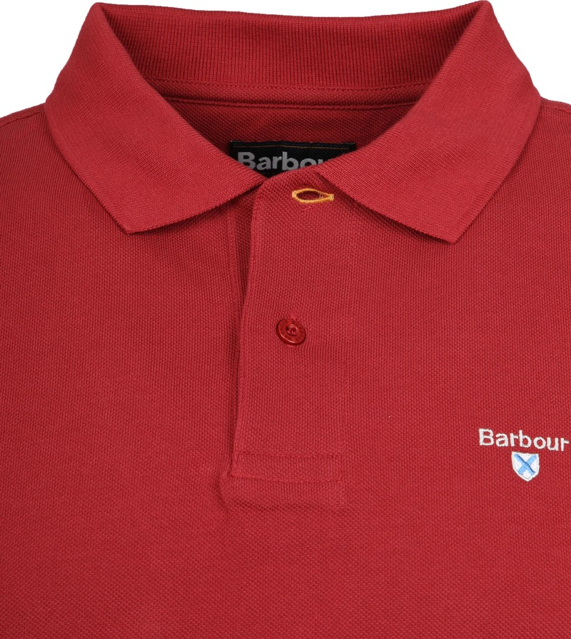 Barbour Basic Polo Rood foto 1