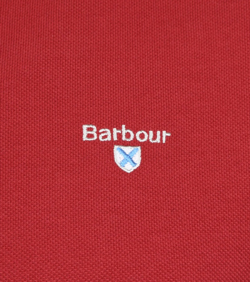 Barbour Basic Polo Rood foto 2