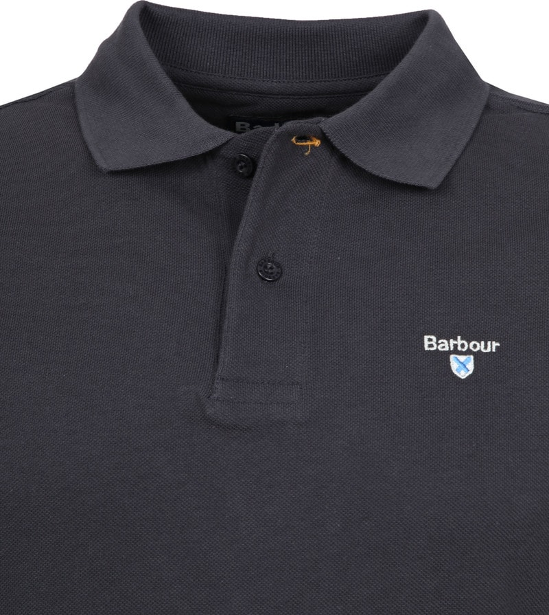 Barbour Basic Poloshirt Dunkelgrau Foto 1
