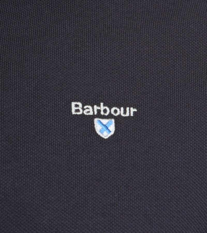 Barbour Basic Poloshirt Dunkelgrau Foto 2