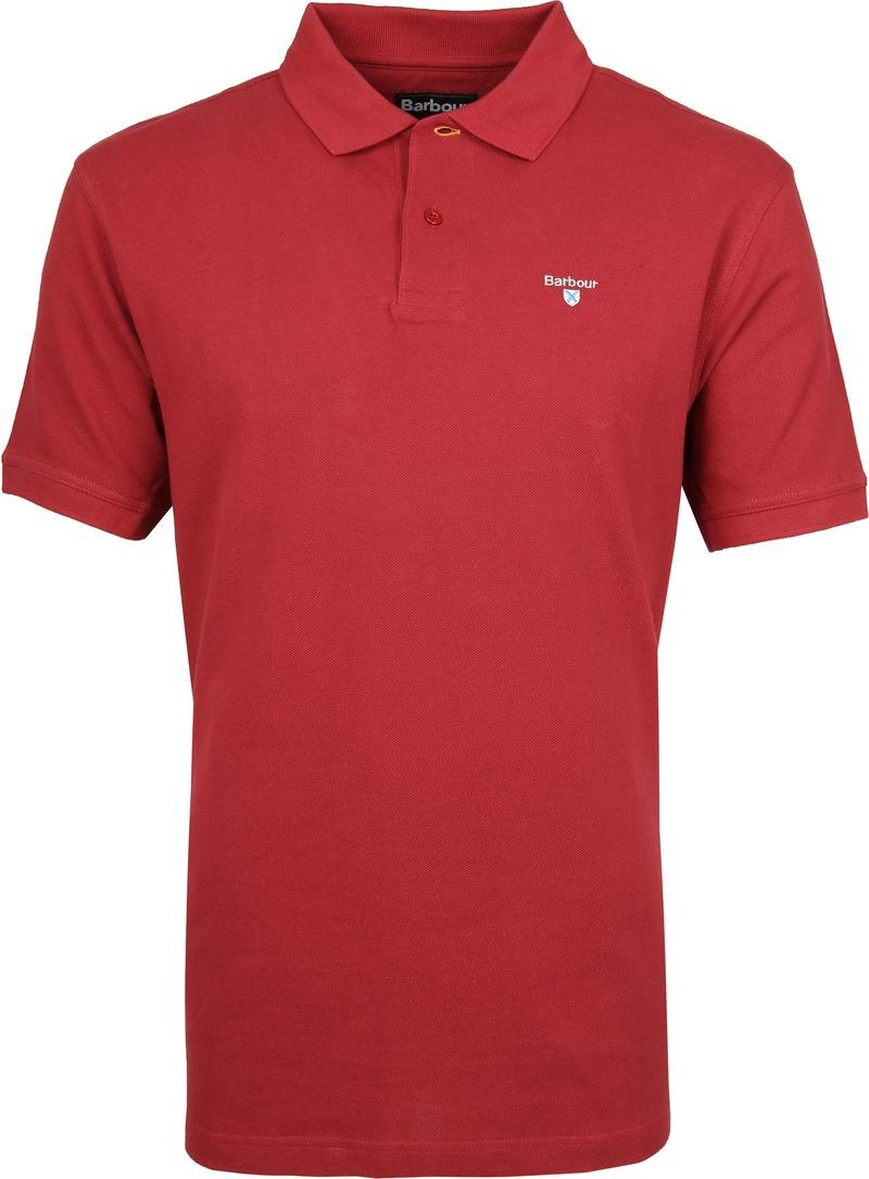 Barbour Basic Poloshirt Rot Foto 0