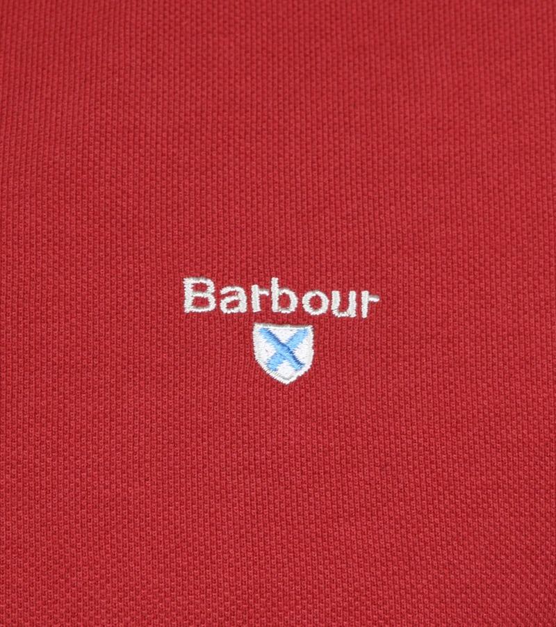Barbour Basic Poloshirt Rot Foto 2
