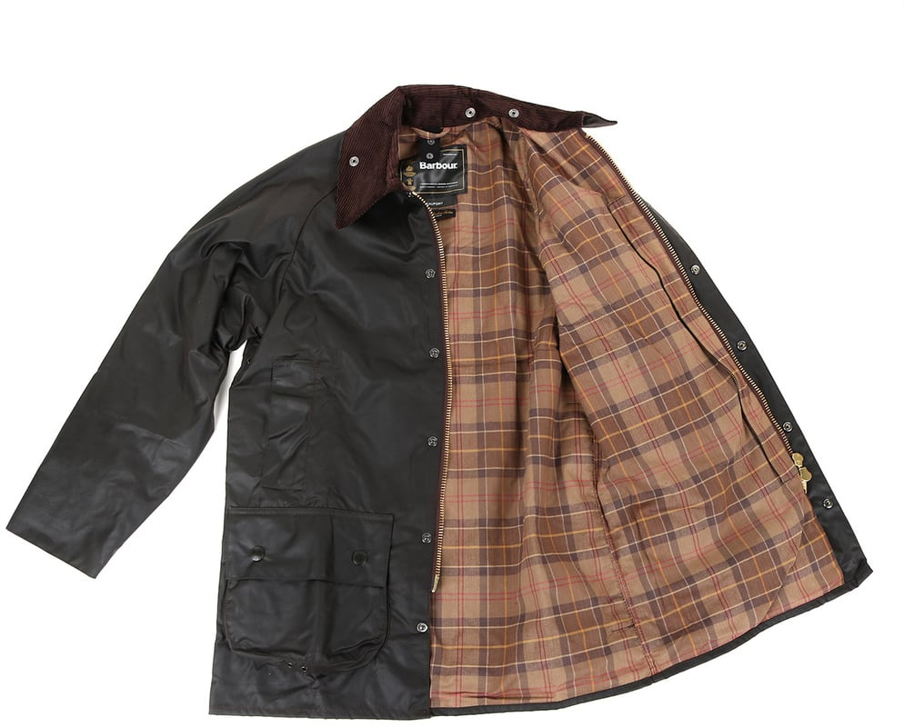 Detail Barbour Beaufort Wax Jas Bruin