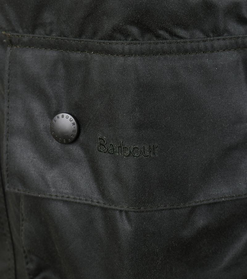 Barbour Beaufort Wax Jas Groen foto 5