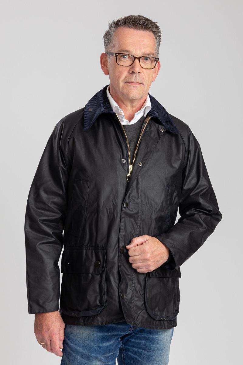 Barbour Bedale Wax Coat Dark Blue