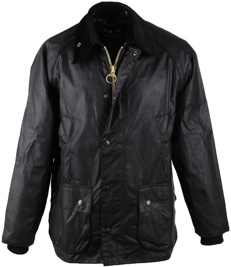 Barbour Bedale Wax Jas Zwart  online bestellen | Suitable