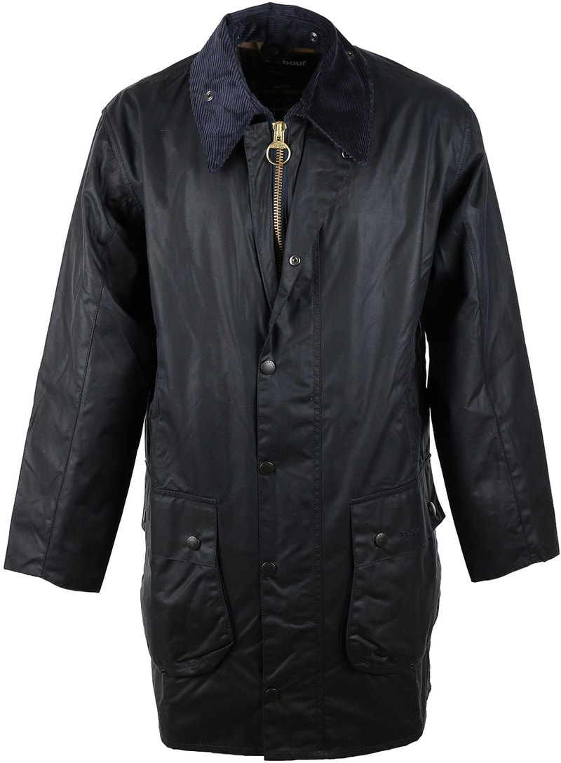 Barbour Border Wachsjacke Blau