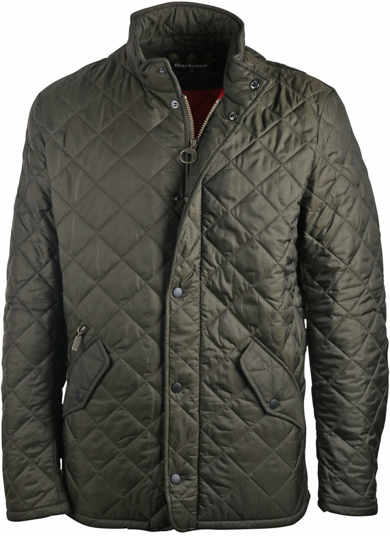 Barbour Flyweight Chelsea Quilted Steppjacke Olivgrün Foto 0
