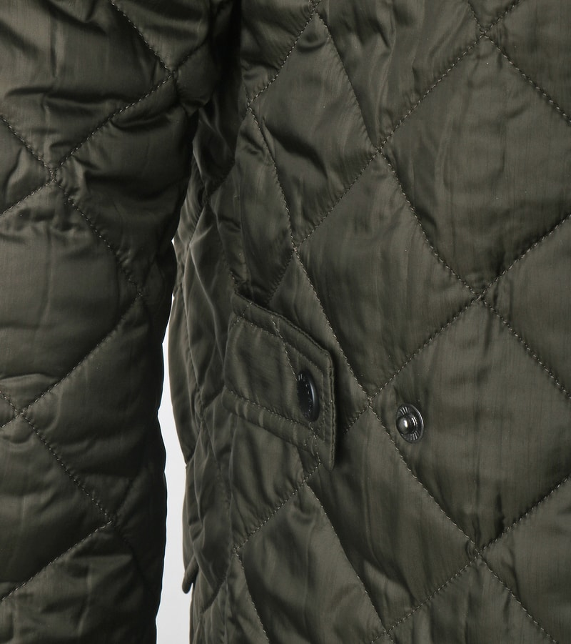Barbour Flyweight Chelsea Quilted Steppjacke Olivgrün Foto 3