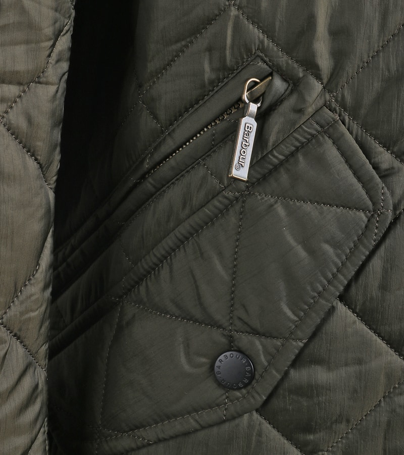Barbour Flyweight Chelsea Quilted Steppjacke Olivgrün Foto 5