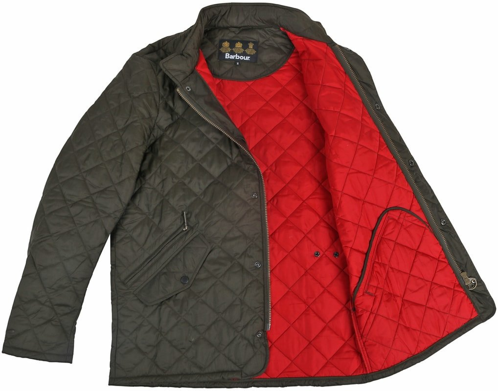 Barbour Flyweight Chelsea Quilted Steppjacke Olivgrün Foto 6