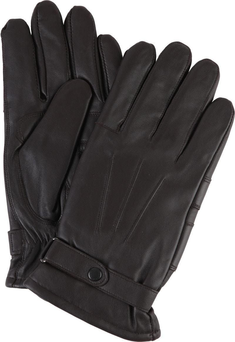 Barbour Handschuhe Glattleder Braun