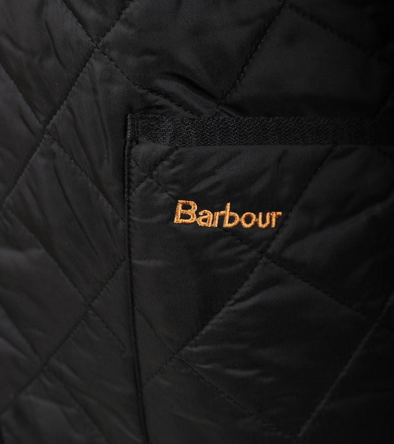 Barbour Heritage Steppjacke Schwarz
