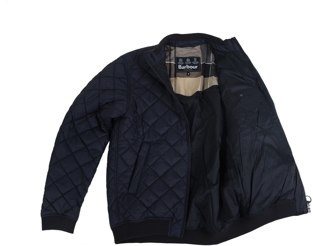 Detail Barbour Holton Quilted Jas Donkerblauw