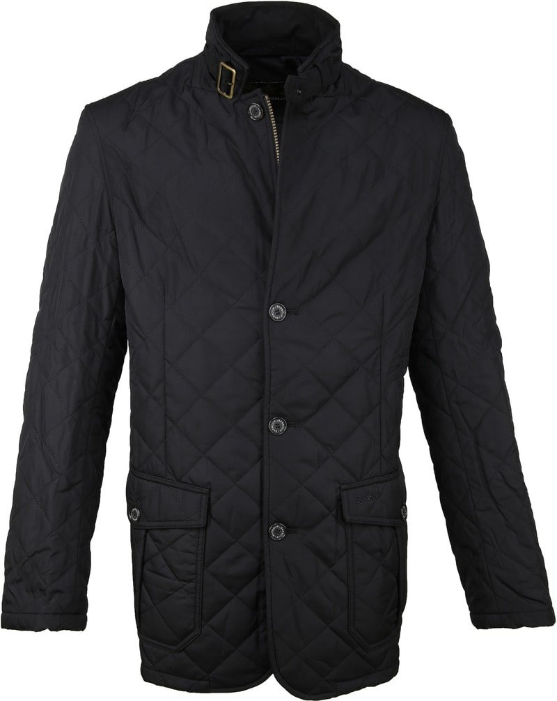 Barbour Lutz Quilt Jacket Zwart foto 0