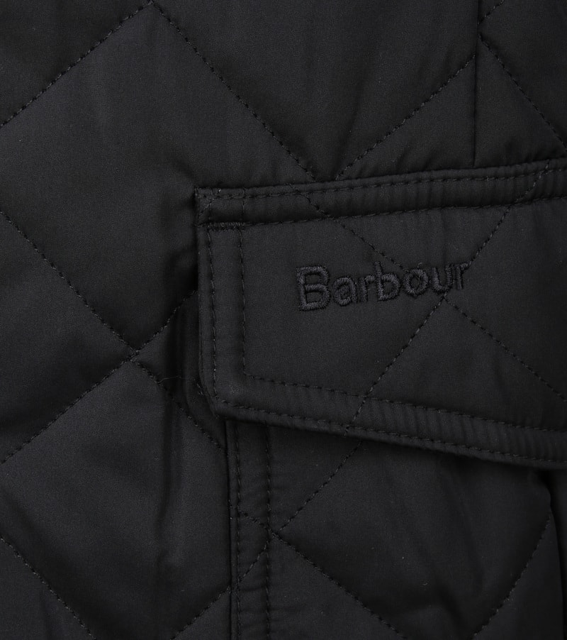 Barbour Lutz Quilt Jacket Zwart foto 3